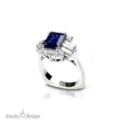 CP163-1-Handmade Sapphire Ring