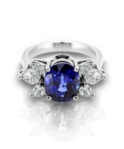 sapphire-diamond-cluster-ring