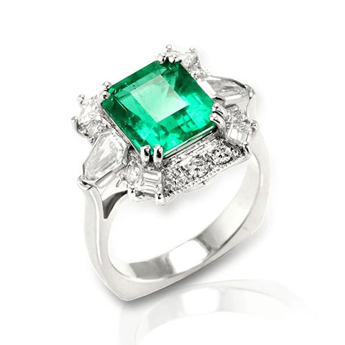 Emerald And Diamond Rings Jewelry Designs