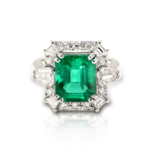 Vintage emerald wedding ring