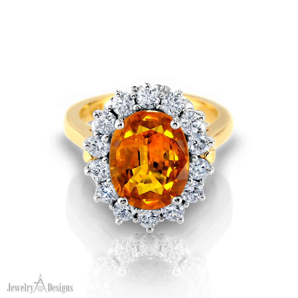 CP191-2 Golden Sapphire Ring