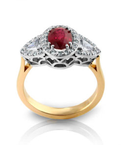 Ruby Halo Ring