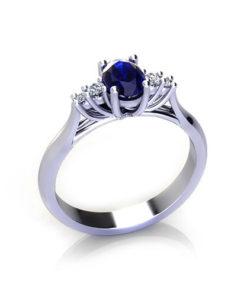 Oval Sapphire Trellis Ring
