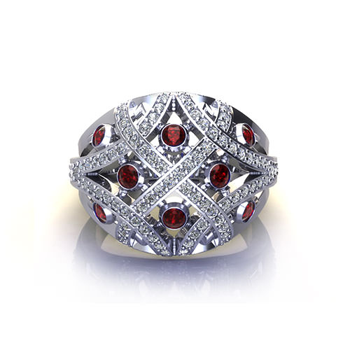 Domed Sapphire Fashion Ring