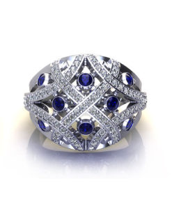 CP201-1-Domed Sapphire Fashion Ring