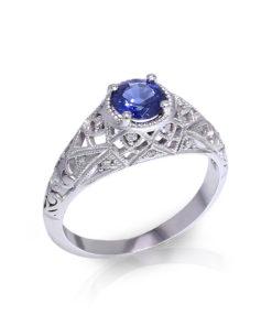 Filigree Sapphire Ring