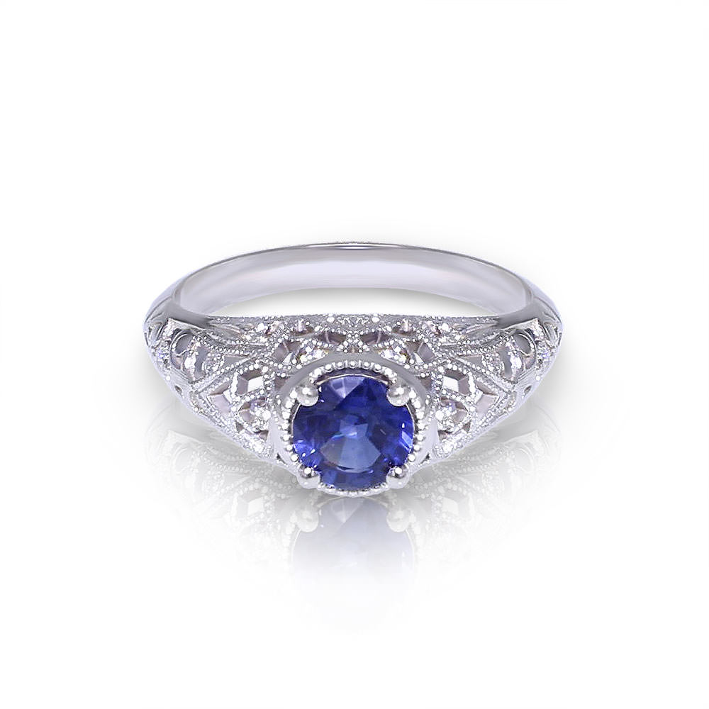 Diamond And Sapphire Engagement Ring Designs