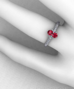 Ruby Diamond Cluster Ring