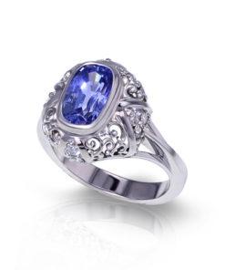 Light Blue Sapphire Ring
