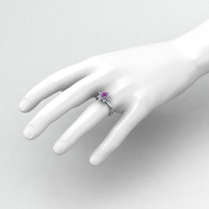 Pink Sapphire Star Ring