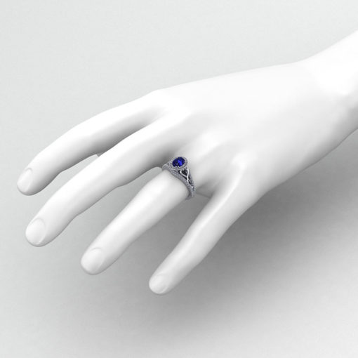 Ladies Oval Sapphire Ring