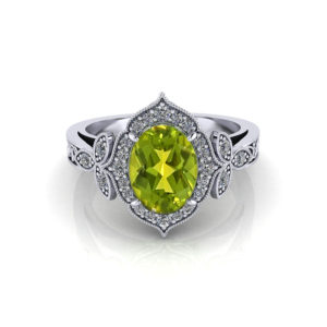 Ladies Oval Peridot Ring