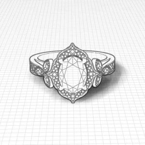 Ladies Oval Peridot Ring