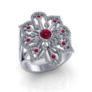 Ruby Spray Ring