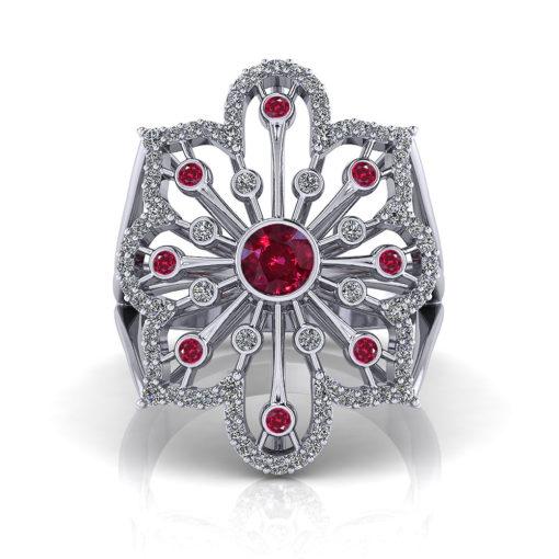 Ruby Spray Ring