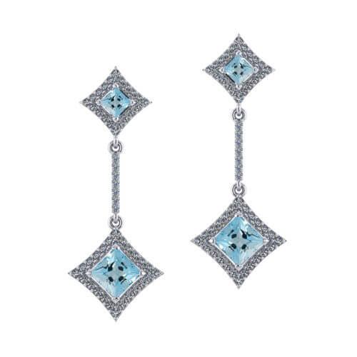 Princess Aquamarine Earrings