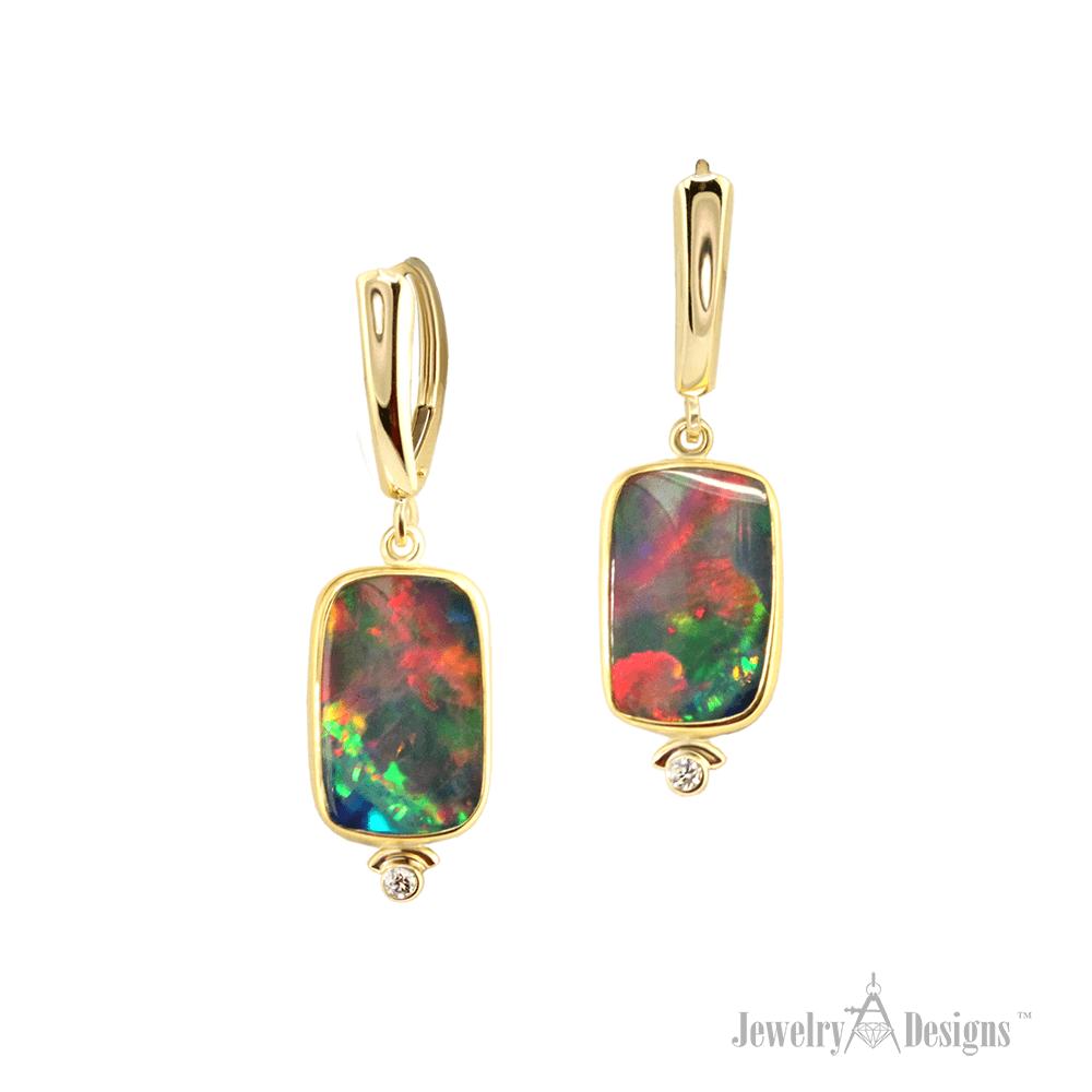 EC895-1 Ethiopian Opal Earrings
