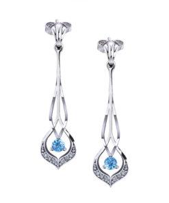 Interwoven Aquamarine Dangle Earrings