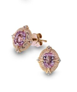 Rose Gold Morganite Earrings