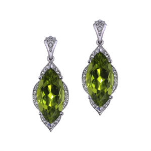Marquise Peridot Earrings