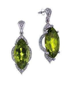 Marquise Peridot Earrings