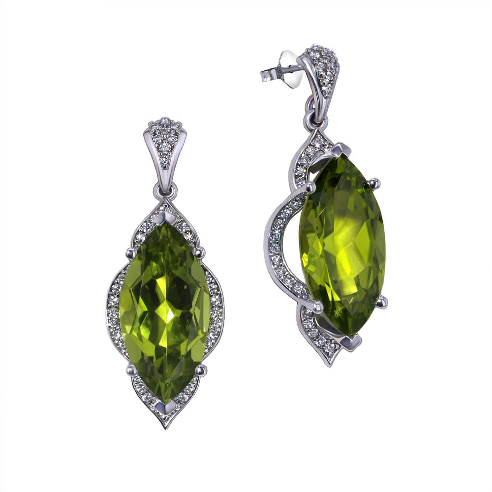 Marquise Peridot Earrings Jewelry Designs