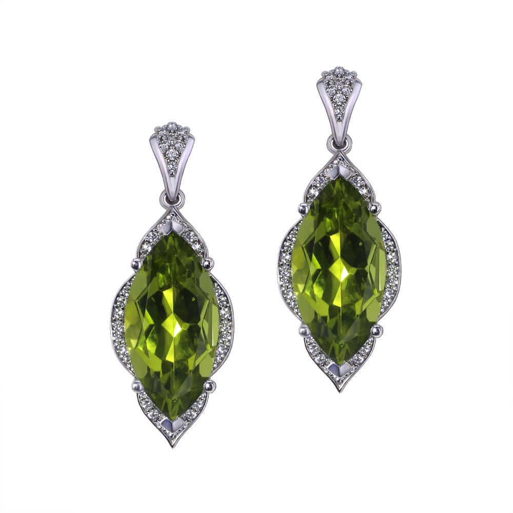 drop loading green ebay sterling amazing peridot shablool is image itm earrings silver