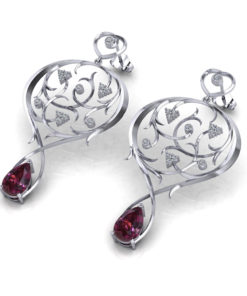 Nouveau Garden Garnet Earrings