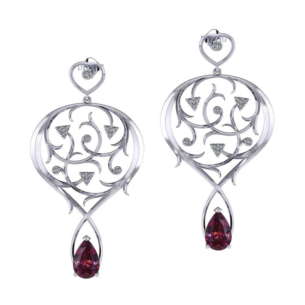 Nouveau Garden Garnet Earrings