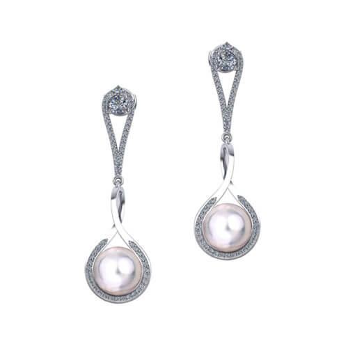 Long South Sea Pearl Earrings