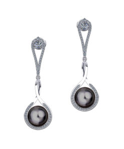 Long Tahitian Pearl Earrings