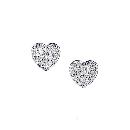 Pave Heart Earrings