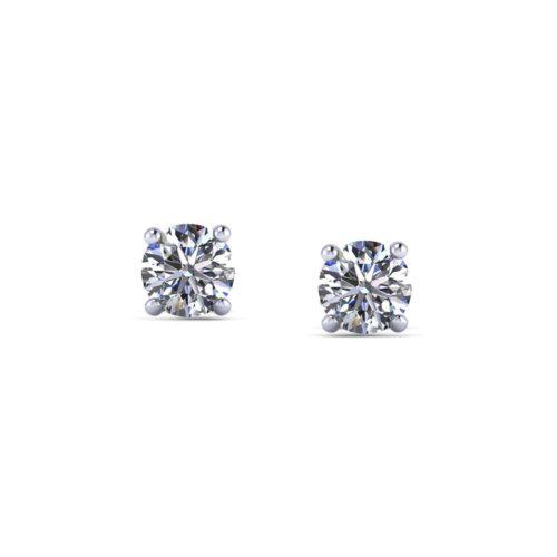 1/2 Carat Diamond Stud Earrings