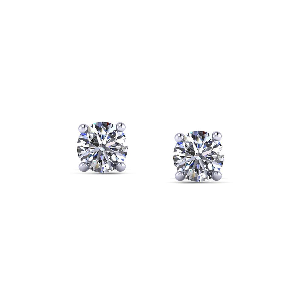 1/2 Carat Diamond Stud Earrings - Jewelry Designs