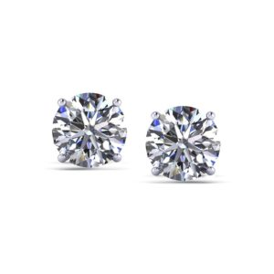 2 Carat Diamond Stud Earrings