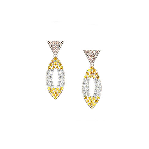 ED203-1-Colored Diamond Earrings