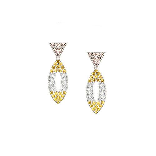 ED203-1-Colored Diamond Earrings