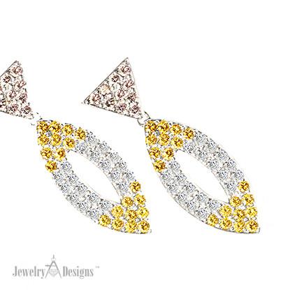Vivid Colored Diamond Earrings
