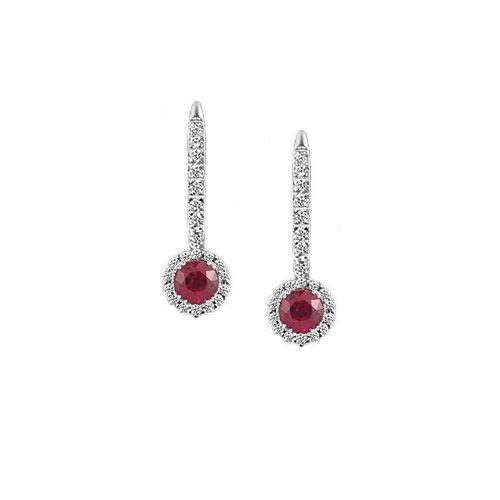 Hanging Ruby Earrings
