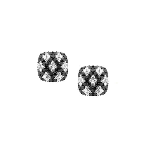 ED421-1-Black Diamond Pave Earrings