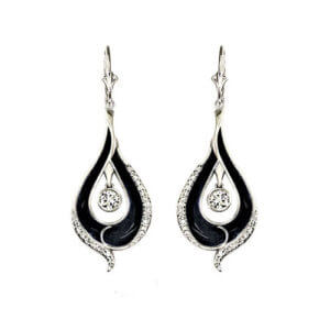 Plique' A Jour Drop Earrings