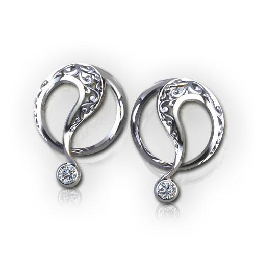 ED523-1-Filigree Circle Earrings