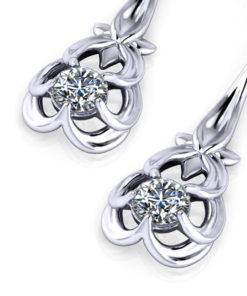 Floral Diamond Drop Earrings
