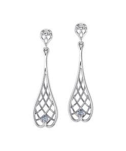 Woven Diamond Earrings