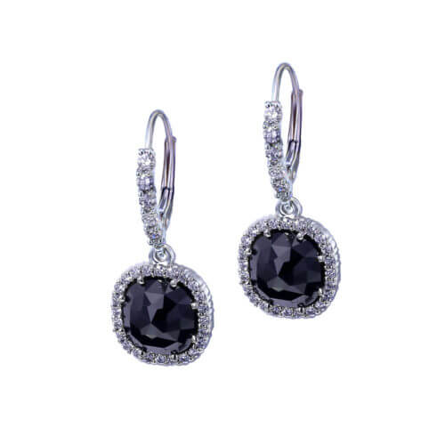 Dangle Black Diamond Earrings