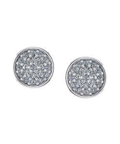 Pave Circle Diamond Earrings