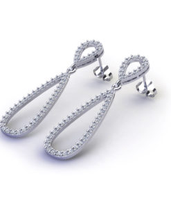 Diamond Teardrop Earrings-angle