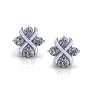 Crisscross Diamond Earrings