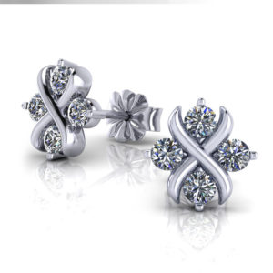 Crisscross Diamond Earrings