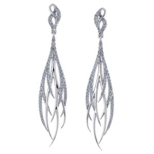 Streaming Diamond Dangle Earrings